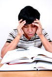 Estudiante asiático joven tensionado. Fotografía de archivo libre de regalías