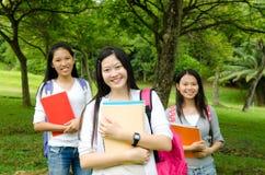 Estudiante asiático sonriente Fotografía de archivo libre de regalías