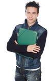 Estudiante atractivo del muchacho Foto de archivo libre de regalías