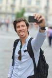 Estudiante/autorretrato que toma turístico Fotografía de archivo