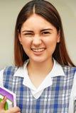 Estudiante bonito Making Funny Faces Fotografía de archivo