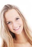 Estudiante cómodo sincero con sonrisa encantadora Imagenes de archivo