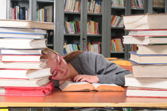 Estudiante cansado Fotos de archivo libres de regalías