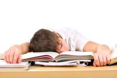Estudiante cansado Imagen de archivo