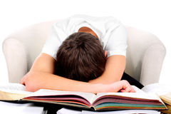 Estudiante cansado Fotos de archivo
