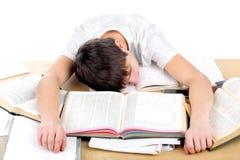 Estudiante cansado Fotografía de archivo