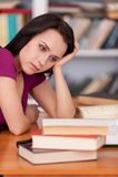 Estudiante cansado. Fotos de archivo libres de regalías