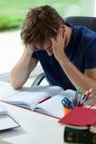 Estudiante cansado Fotografía de archivo libre de regalías
