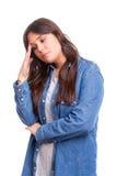 Estudiante cansado Imagen de archivo libre de regalías