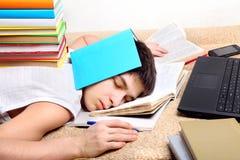 Estudiante cansado duro Foto de archivo
