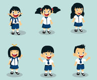 Estudiante Characters Collection Imagenes de archivo