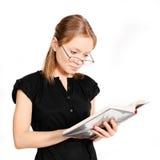 Estudiante con el libro Imagen de archivo libre de regalías