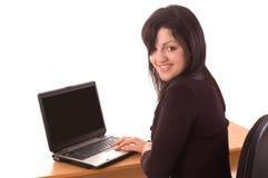 Estudiante con la computadora portátil Fotografía de archivo libre de regalías