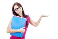 Estudiante con la presentación de gesto Imagenes de archivo