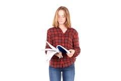 Estudiante con los cuadernos Fotografía de archivo
