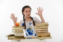 Estudiante con los libros Foto de archivo