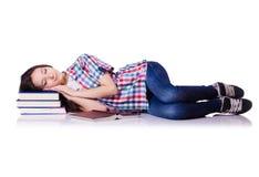 Estudiante con los libros Foto de archivo libre de regalías