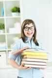 Estudiante con los libros Imagenes de archivo