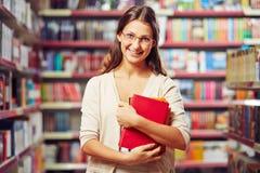 Estudiante con los libros Fotografía de archivo libre de regalías