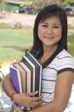 Estudiante con los libros 7 Foto de archivo