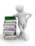 Estudiante con los libros de la bala Imagen de archivo