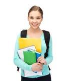Estudiante con los libros y la cartera Imágenes de archivo libres de regalías
