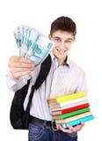 Estudiante con un dinero ruso Foto de archivo