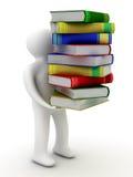 Estudiante con una bala de libros. Imágenes de archivo libres de regalías