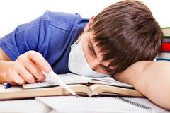 Estudiante con una gripe Fotografía de archivo