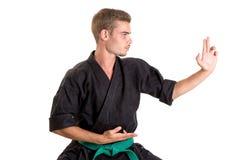 Estudiante de artes marciales Foto de archivo libre de regalías
