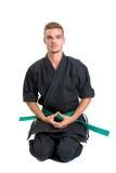 Estudiante de artes marciales imagen de archivo