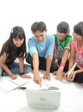 Estudiante de cuatro asiáticos fotos de archivo