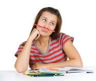 Estudiante de la chica joven imagenes de archivo