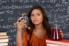 Estudiante de la ciencia Fotos de archivo
