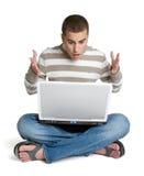Estudiante de la computadora portátil Imágenes de archivo libres de regalías