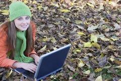 Estudiante de la computadora portátil Fotos de archivo