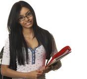 Estudiante de la escuela de la universidad que sonríe feliz Imágenes de archivo libres de regalías