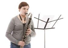 Estudiante de la música Foto de archivo