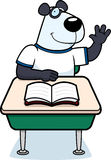 Estudiante de la panda ilustración del vector