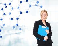 Estudiante de la química Imagen de archivo libre de regalías
