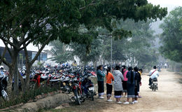 Estudiante de Laos Imagen de archivo libre de regalías