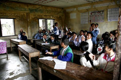Estudiante de Laos Imagen de archivo