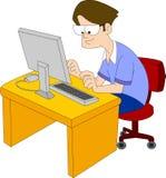 Estudiante de las TIC ilustración del vector
