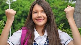 Estudiante de Latina Winner Foto de archivo libre de regalías