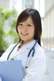 Estudiante de medicina chino asiático Foto de archivo libre de regalías