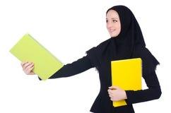 Estudiante de mujer árabe aislado imagen de archivo libre de regalías