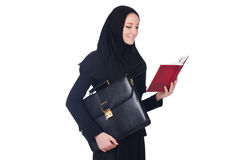 Estudiante de mujer árabe aislado Fotos de archivo