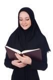 Estudiante de mujer árabe aislado Foto de archivo libre de regalías