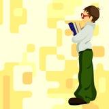 Estudiante de trabajo duro Fotografía de archivo libre de regalías