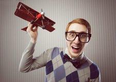 Estudiante del empollón Imágenes de archivo libres de regalías